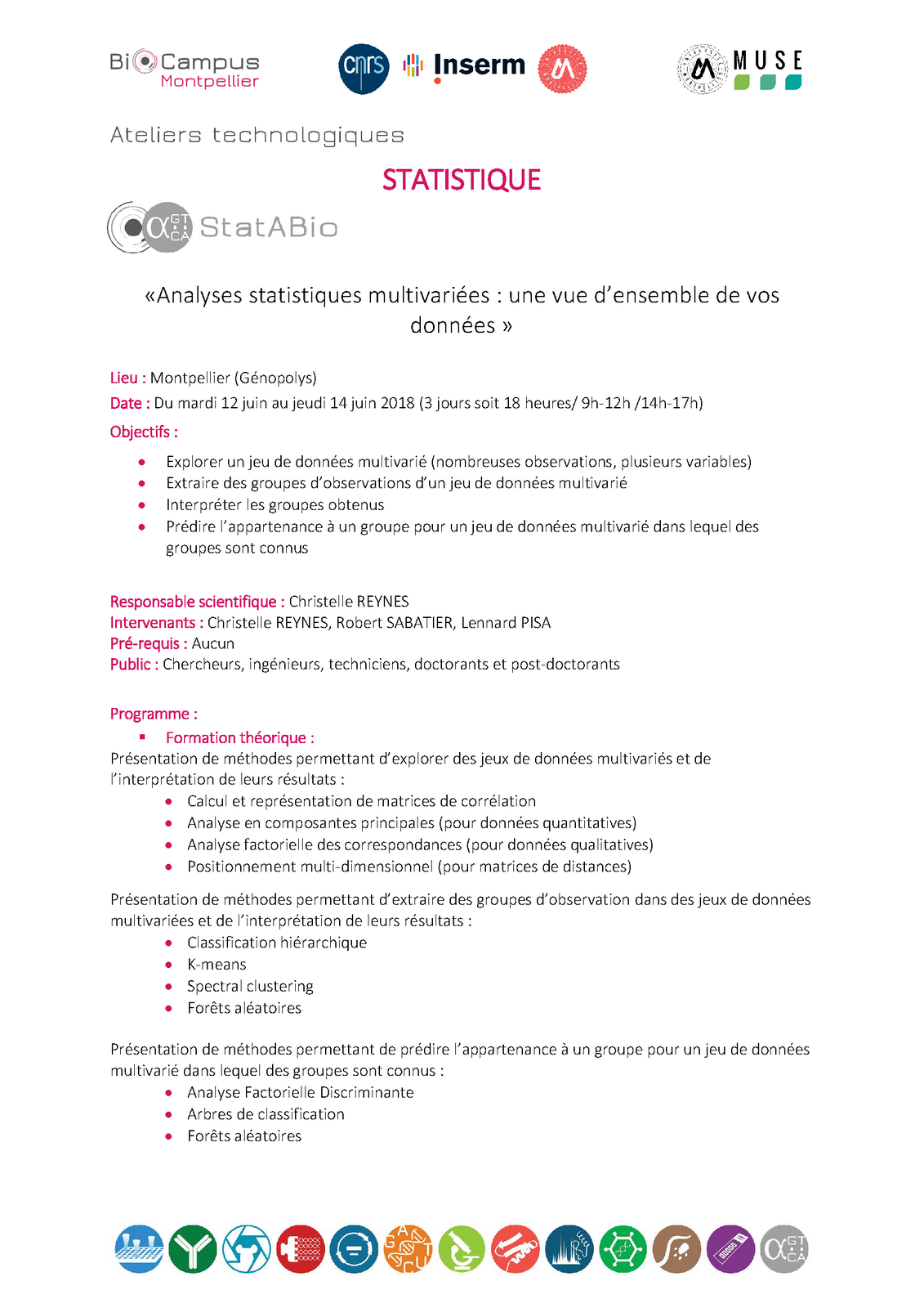 fiche programme analyses stats multivariees Page 1